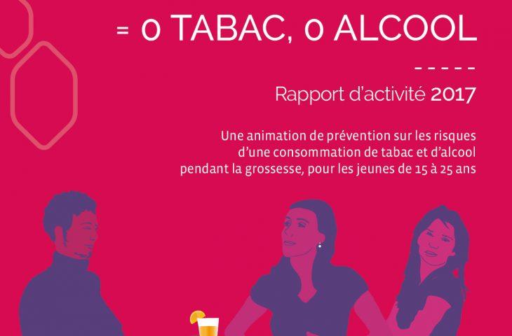 Visuel de la première page du RA Grossesse 2017 de la Mutualité Française BFC