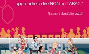 Visuel de la première page du RA TABAC 2017 de la Mutualité Française BFC